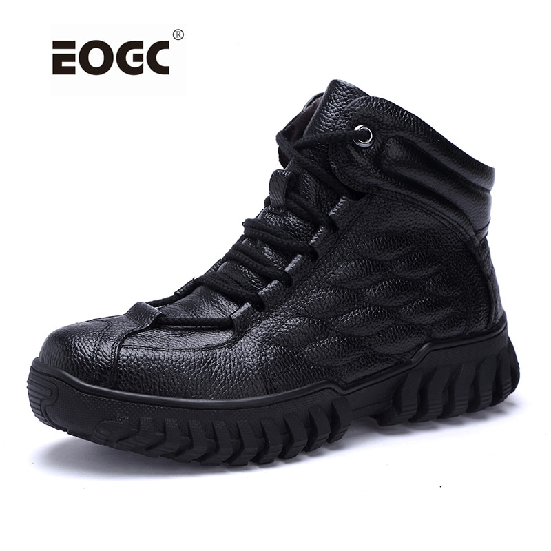 autumn winter genuine leather ankle boots chelsea boots men shoes warm vintage classic male casual winter shoes men snow boots Super Warm With Fur Men Winter Boots Leather Waterproof Rubber Ankle Snow Boots Fashion Male Autumn And Winter Shoes