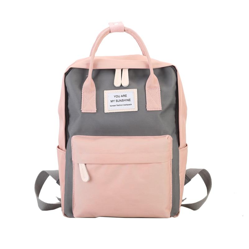 النساء قماش الظهر الحلوى اللون للماء المدرسة حقائب للمراهقين الفتيات كبيرة لطيف محمول على ظهره خليط ظهره Kawaii