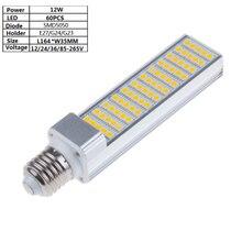 12 W 60 pièces 5050 LED E27/G24 12 V/24 V/36 V 85-265Vac lampe épis de maïs LED, 100LM/W 164mm lampe horizontale pour bureau, applique murale, suspension