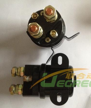 Elaborado Contactor de elevación doméstico negro 200A 24V DC para autocar turístico eléctrico o transpaletas eléctricas de turismo