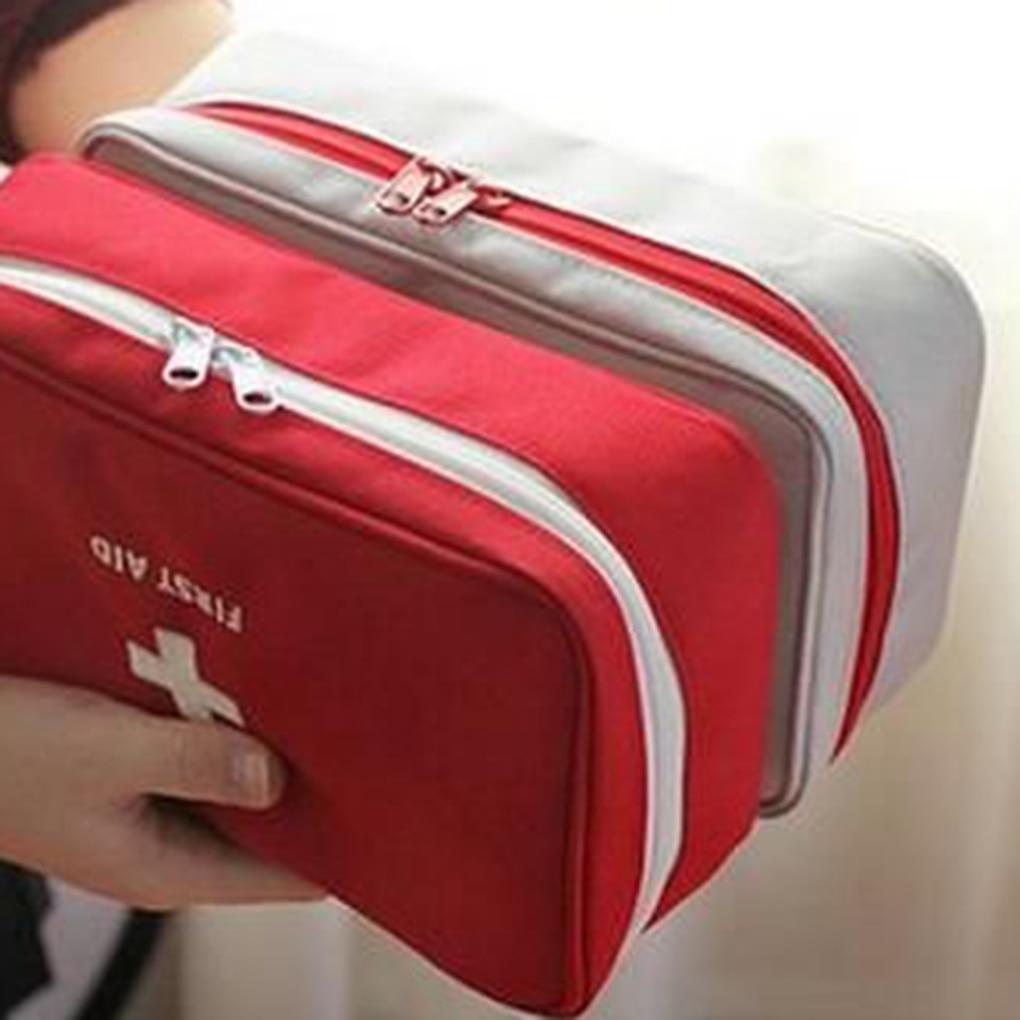 Bolsa de viaje portátil, bolsa de almacenamiento de primeros auxilios, bolsa de botiquín vacía para viaje