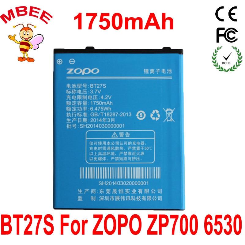 1750mAh BT27S Original ZOPO 6530 ZP700 700 Battery Batterie Bateria Batterij Accumulator AKKU PIL Ce