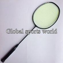 4U High quality 3D blade N80 Frame badminton rackets genuine 100% carbon fiber badminton racquets (Black)