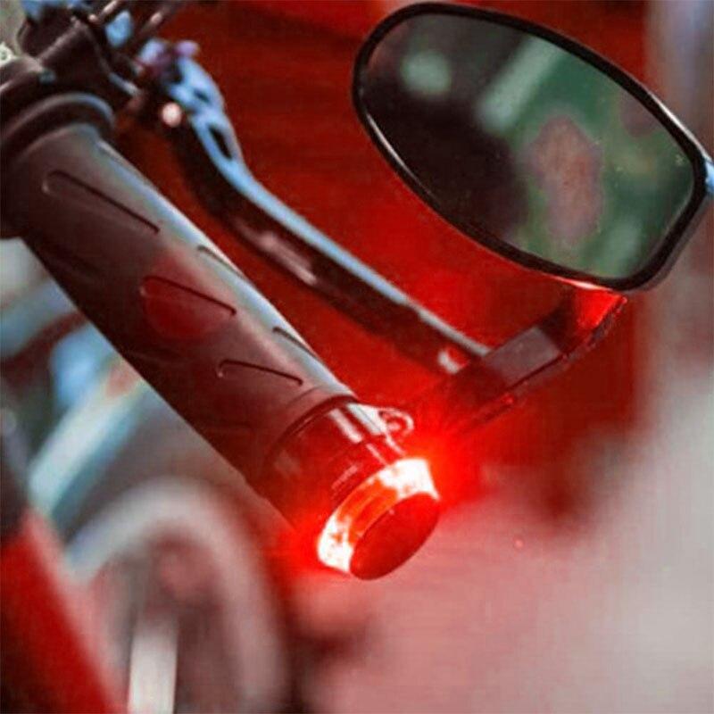 Vehemo Moto Lâmpada LED para Motos Ligue Luz de Sinalização Indicador Handle Bar Aperto Final Guiador Reequipamento