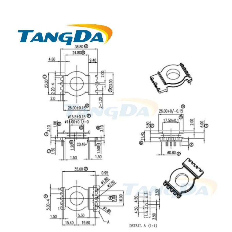 Tangda POT POT3311 tipo 5 + 5 pin 10P bobina núcleo magnético + esqueleto ferritas carcasa de transformador de potencia Tipo Vertical PC40