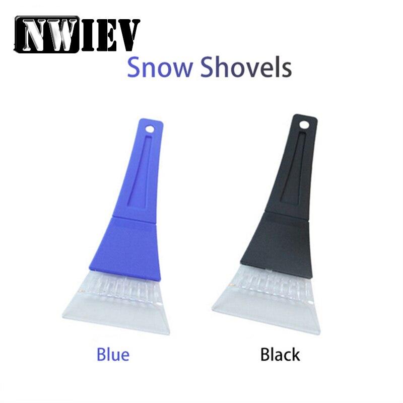 NWIEV 1X pala de limpieza de nieve para automóvil invierno hielo pala para Ford Focus 2 3 VW Passat B6 B5 B7 B8 Toyota Avensis Skoda Accesorios