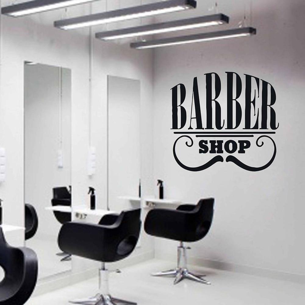 Barbershop sign wall sticker Detachable vinyl Barbershop Logo Stickers Window Decals Barbers Logo Hair Salon Wall Decal G168