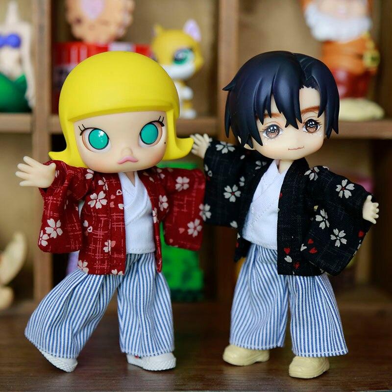 Juego de kimono Ukata 2019 para muñeca OB11 OB11 1/12 muñeca OB11 muñeca gsc molly disponible para cu-poche OB11 accesorios muñeca