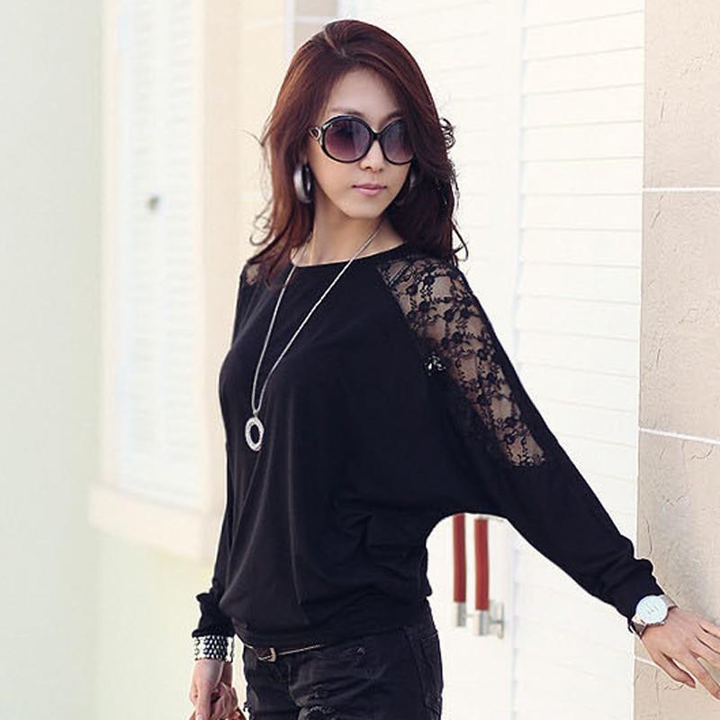 Batwing Sleeve Shirt Women Clothes 2018 Casual Lace Blouse White Tops Loose Cotton Plus Size Korean Clothing Blusas Femininas