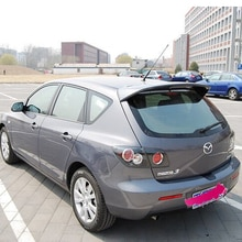 Mazda 3 hatchback 2008 2009 2010 2011 2012 자동차 장식 도색되지 않은 리어 스포일러 고품질 abs 소재 지붕 테일 윙