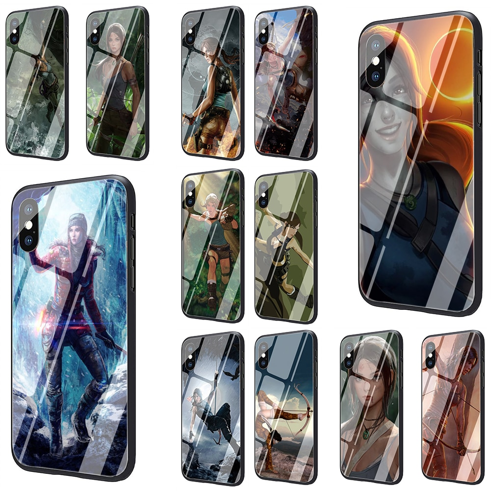 Lara Croft Tomb Raider oyun temperli cam telefon kılıfı için iPhone SE 2020 5 5s 6 6s artı 7 8 artı X XR XS 11 Pro Max