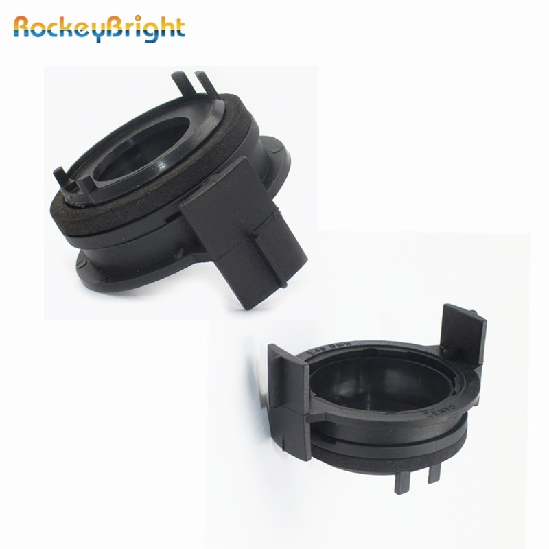 Rockeybright 2 шт. H7 светодиодные лампы для фар адаптеры держатели для BMW E46 3 серии 325ci 325i 330ci 330i M3 328Ci 323i led H7 адаптер