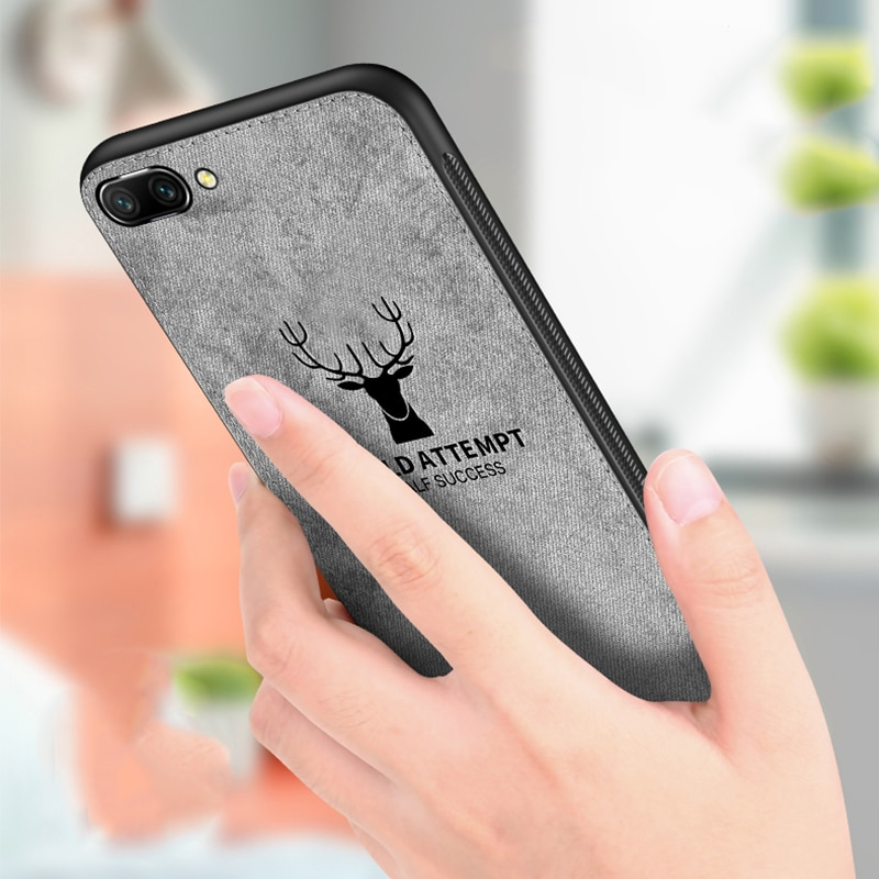 Funda de tela para teléfono de ciervo para Huawei honor 8 9 10 lite funda de textura de tela para honor 9i note 10 jugar huawey honor 10 lite