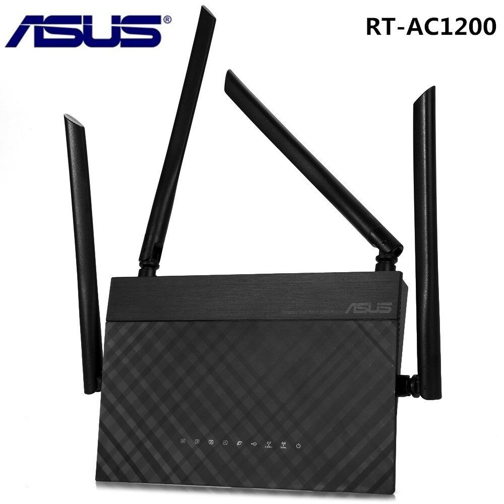 Router inalámbrico ASUS RT-AC1200 2,4G 5G 1167Mbps repetidor de red WiFi Router de doble banda con cuatro antenas de 5dBi controles parentales