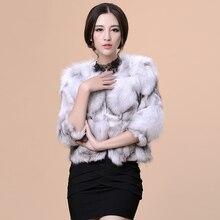 Blouson en fourrure de renard véritable pour femmes, manteau, vêtement féminin court et automne-hiver, manteaux pour vêtements de dessus, livraison gratuite, VK1204
