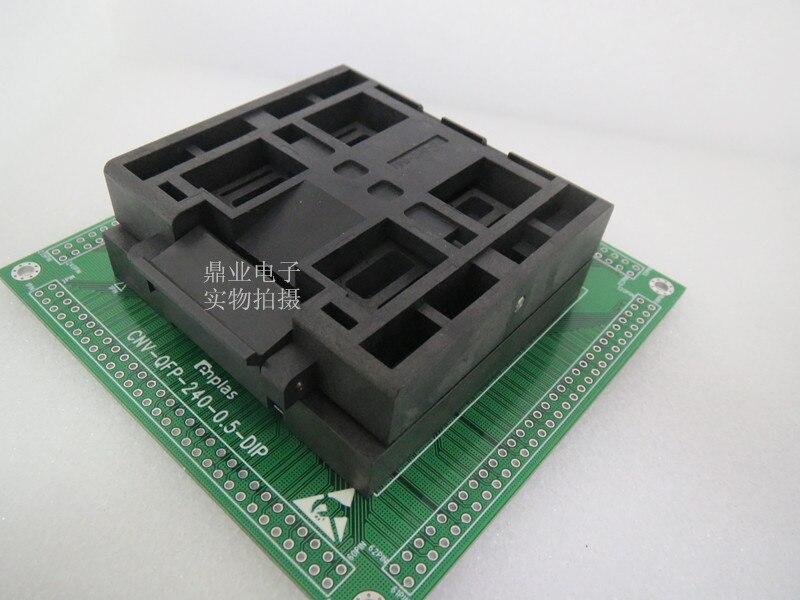 Cubierta de TQFP240/DIP QFP240 FPQ-240-0.5-02 QFP-240-0.5-02/03 ENPLAS IC adaptador de asiento de alta temperatura asiento de prueba de banco de prueba de zócalo