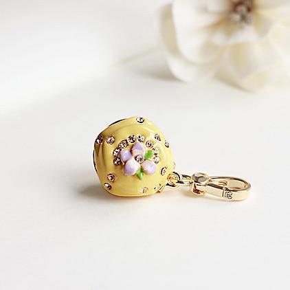 Amarillo Cupcake & púrpura abalorio floral bolso de las mujeres las cadenas para niña COLLAR COLGANTE de joyería