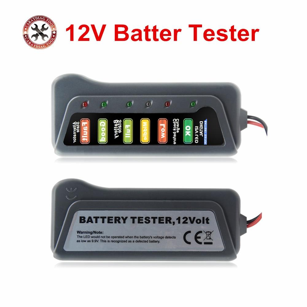 ¡Oferta! alternador Digital de 12 V, herramienta de diagnóstico de vehículo de coche con 6 luces LED, probadores de batería