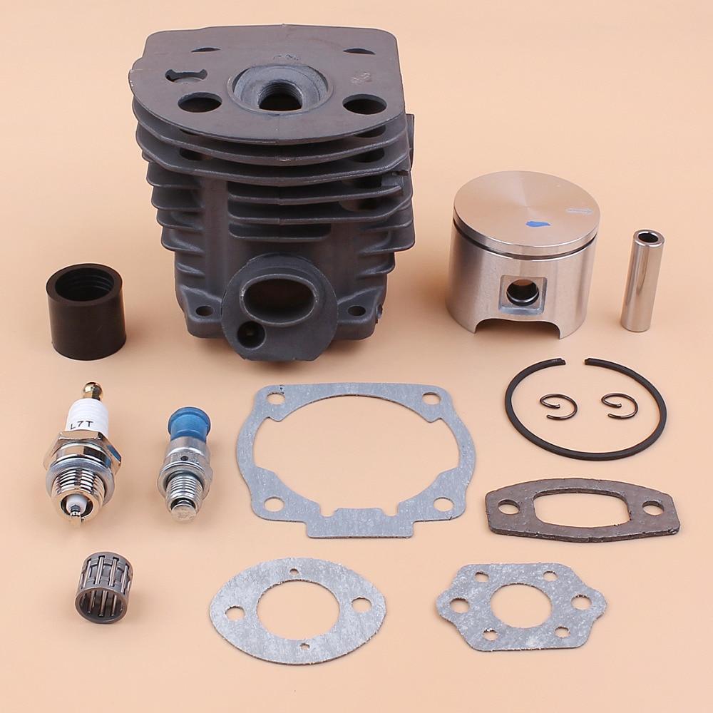 46MM Cylinder Piston Ring /Intake Manifold Gasket Kit For HUSQVARNA 55 51 Rancher Chainsaw Decompression Valve