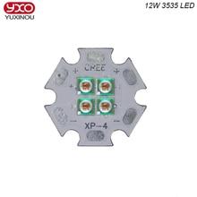 10 Watt 12 Watt 8 V 12 V EPILEDS 3535 620nm 660nm Tiefe Rot Blau Grün High Power 4 Chips LED-Emitter Anlage Wachsen LED mit 20 MM Cooper PCB