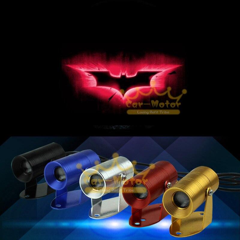 New Hot Sale 3D Red Dark Knight Batman Logo Motorcycle Ghost Shadow Spotlight Laser Projector LED Light Universal (3020)
