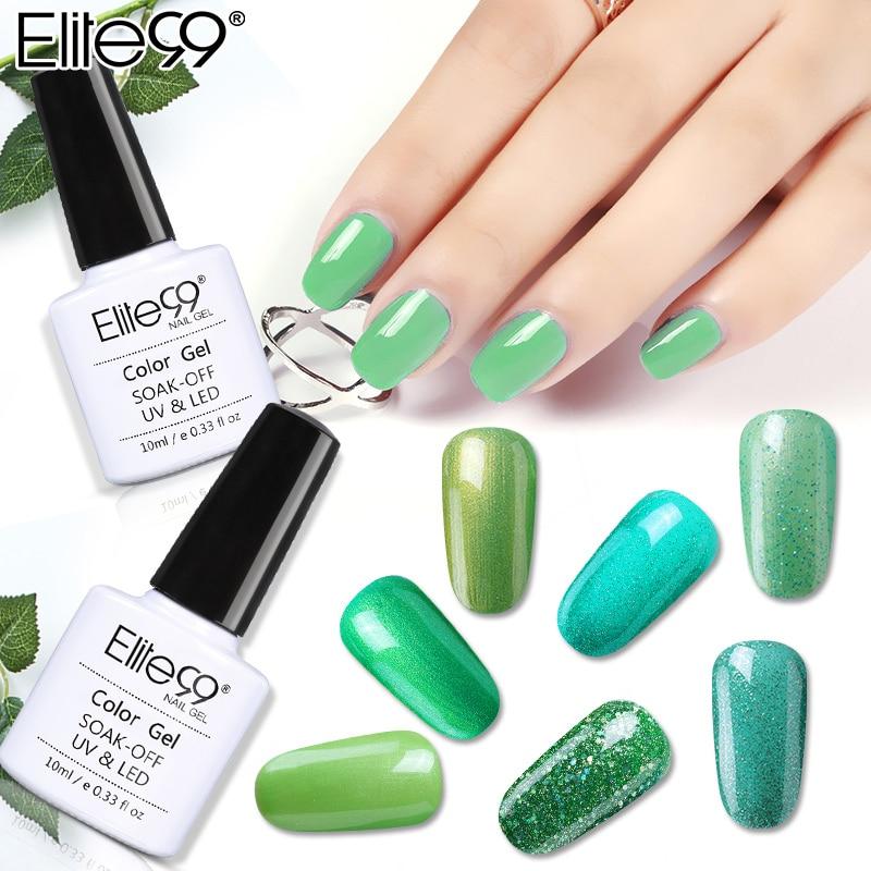 Elite99 Soak Off Green Series Gel Polish 10ML LED UV Gel Nail Lacquer Primer UV Gel Varnishes Nail Art Manicure Art Paint