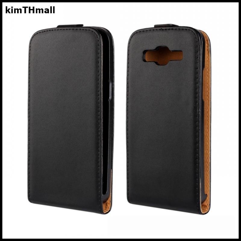 Funda para Samsung Galaxy Grand 2 Duos G7106 G7102 G7108 G7109 funda abatible funda Vertical de cuero genuino funda dura kimTHmall
