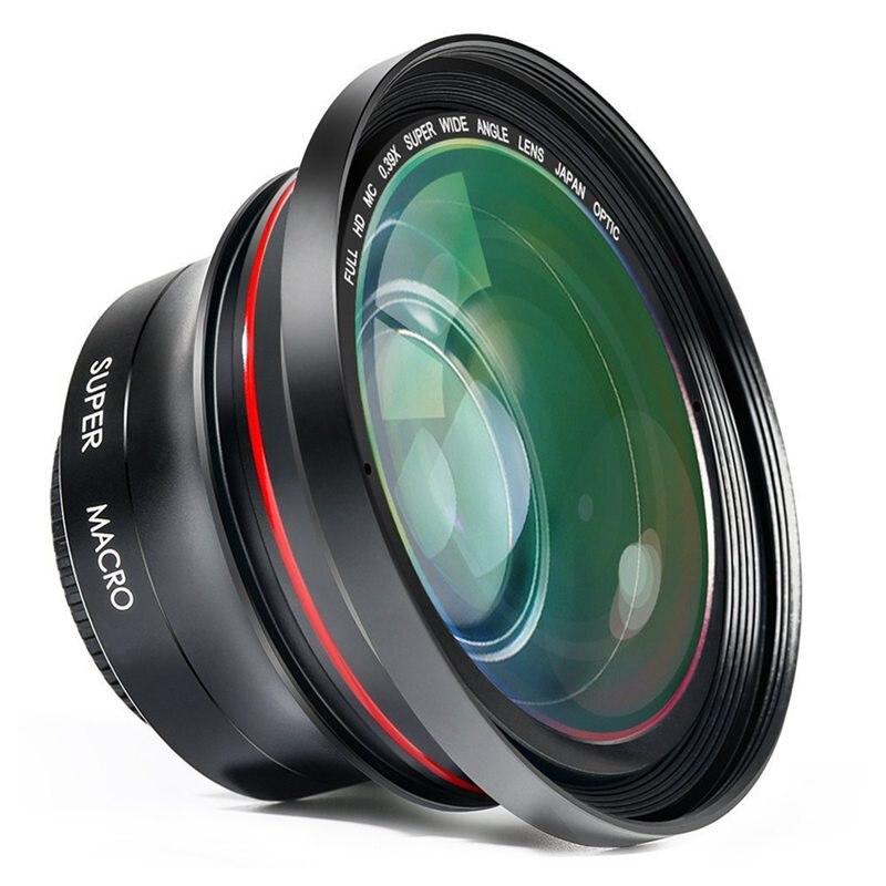 Объектив камеры ORDRO HD 0.39X супер широкоугольный объектив для видеозаписи видеокамеры (FS-1)