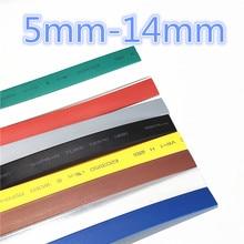 1meter 21 9 Colors 5mm 6mm 7mm 8mm 9mm 10mm 11mm 12mm 13mm 14mm Heat Shrink Heatshrink Tubing Tube Wire Dropshipping