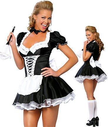S-4XL lencería Sexy para mujer vestido elegante sirvienta francesa disfraz Cosplay Halloween envío gratis