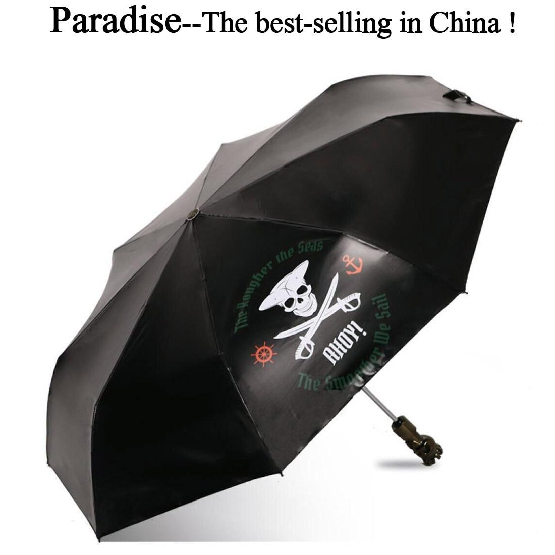 Automatic Umbrella For Men Folding Skull Unique Boy Parasol Sun Rain Fashion UV Protection Kids Windproof Light Umbrellas