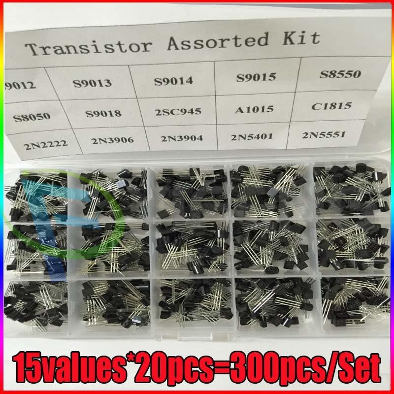 Transistor Kit surtido a 92 S9012 S9013 S9014 S8050 S8550 2N3904 2N3906 BC327 BC337 Tl431 A42 A92 A1015 C1815 13001