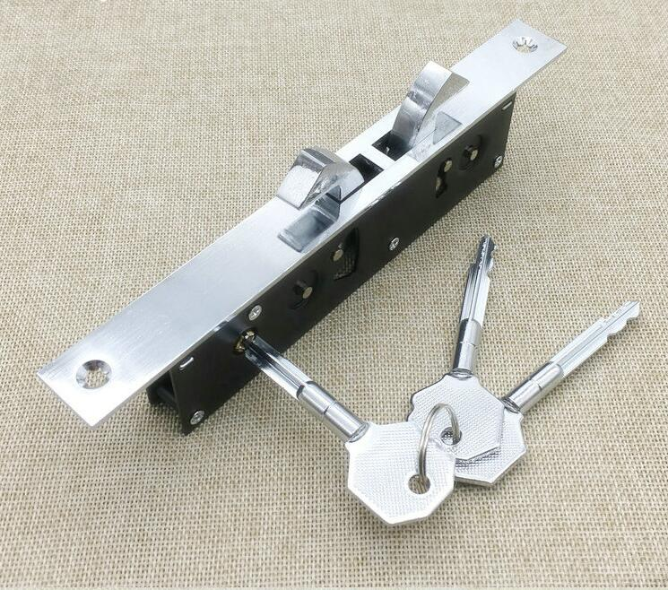 Home gate Sliding door double hook lock Stainless steel aluminum door lock