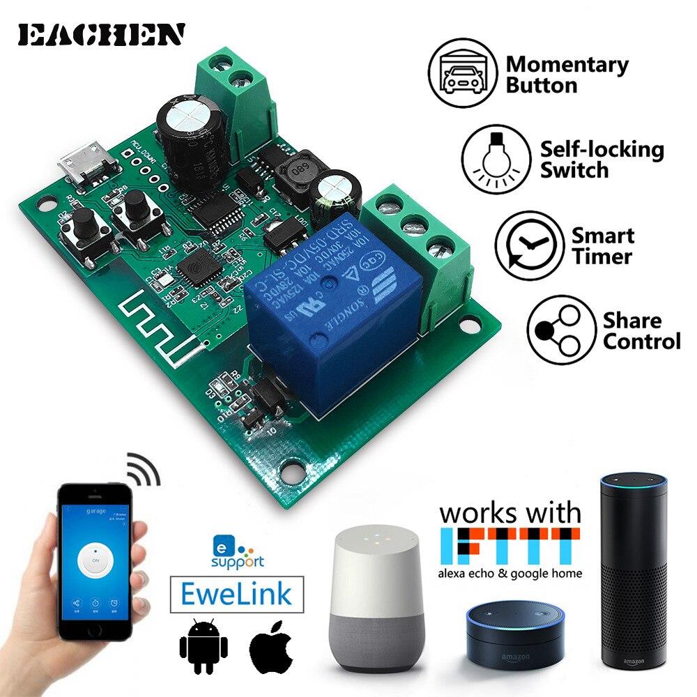 Ewelink WiFi Wireless Smart Switch Relay Module Smart Home Remote Control DC 5-32V App Alexa Google home Nest IFTTT