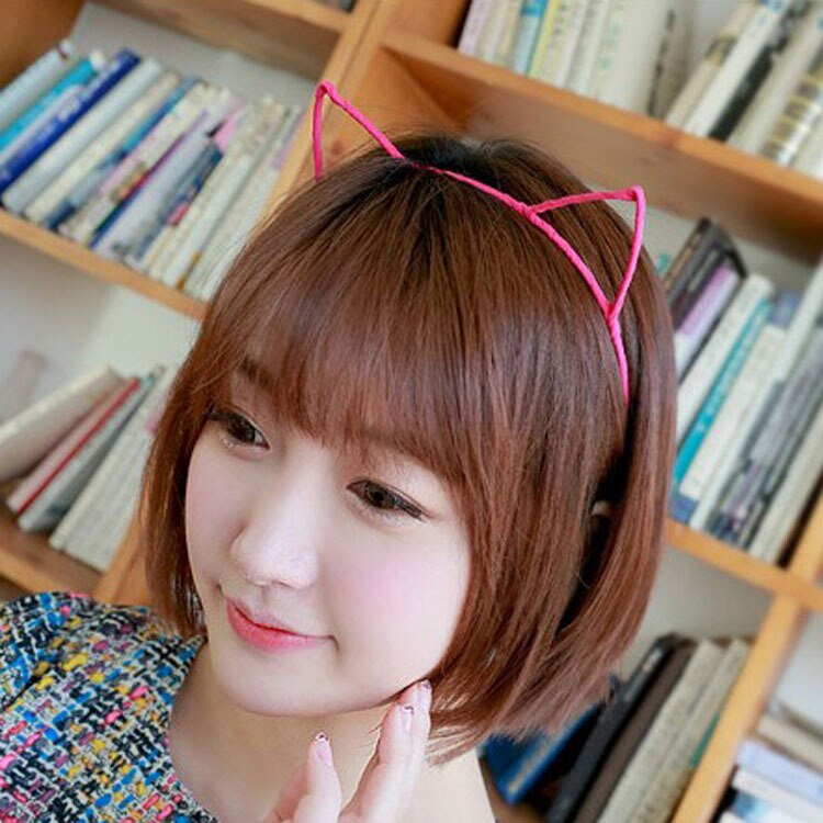 Cute Cat Ears Metallic Hair Bands Many Colors Cloth Wrapped Lovely Hairbands  Accessories Women Fashion Headwear