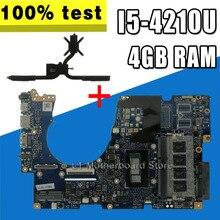 Für ASUS UX303UA UX303U UX303UB U303U Laptop motherboard UX303UA Mainboard test ok 4GB RAM I5-4210 CPU + Kühlkörper