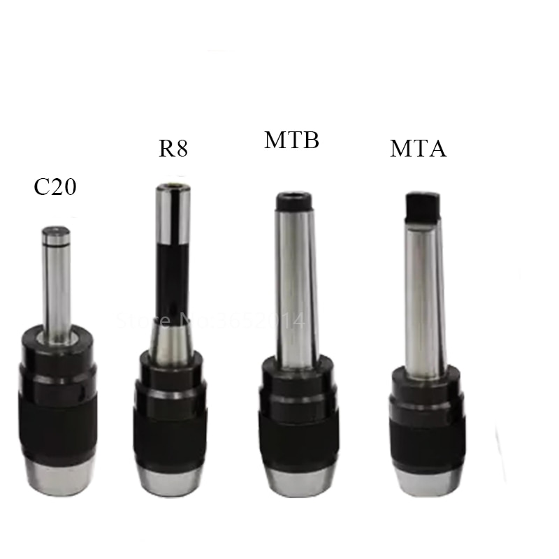 Portabrocas de bloqueo 1-16mm B16 B18 y portabrocas auto apretado Morse mandril cónico MTA4 MTB4 1-13 3-16 centro de mecanizado