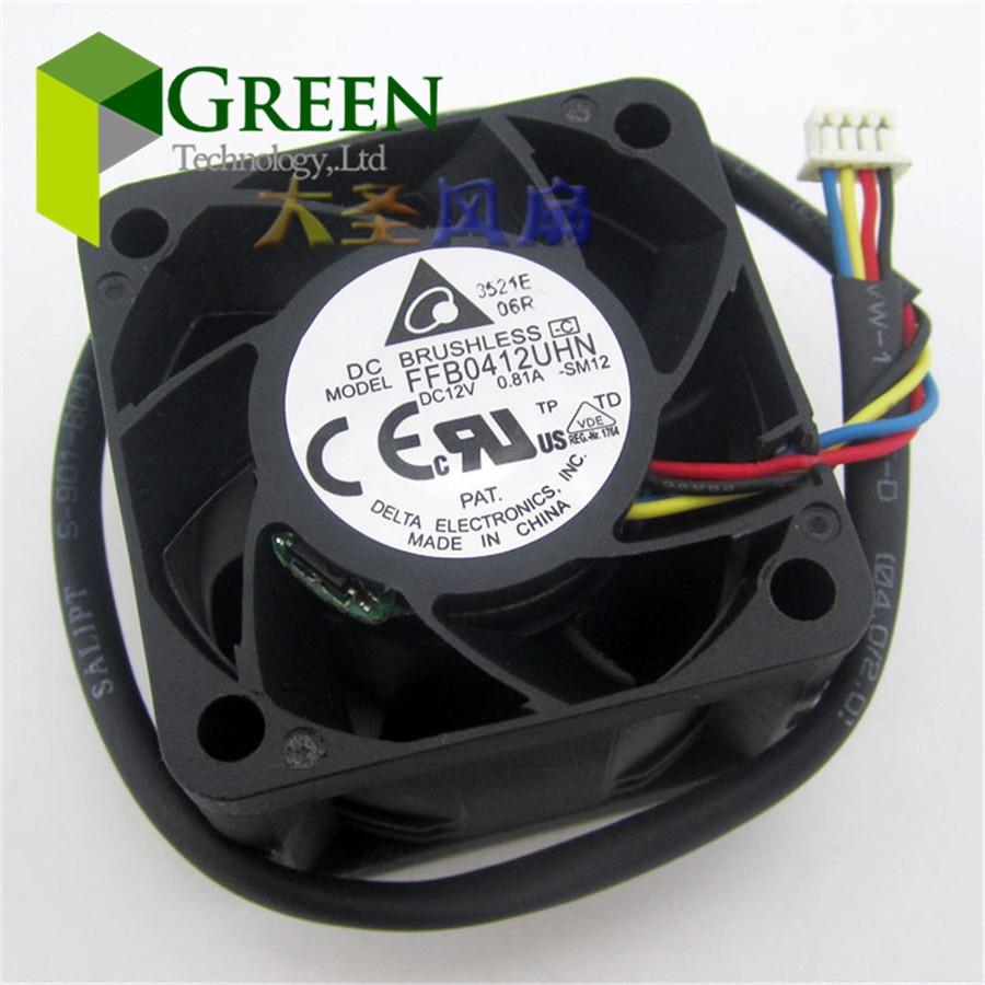 Новый оригинальный Delta FFB0412UHN 4028 40 мм 1U 2U серверный вентилятор большой вентилятор охлаждения питания 12В 0.81A с 4pin