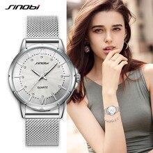 SINOBI moda lüks marka kadınlar Quartz saat klasik altın/gümüş elmas bayanlar kol saati için Montre Femme 2020 kadın saat