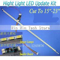 עדכון Dimable גולת כותרת LED מנורות תאורה אחורית אוניברסלי מתכוונן ערכת אור LED עבור צג LCD 2 LED רצועות משלוח חינם