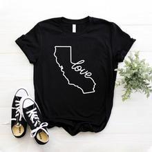 Californie amour femmes t-shirt décontracté coton Hipster drôle t-shirt pour dame Yong haut pour fille t-shirt livraison directe ZY-234