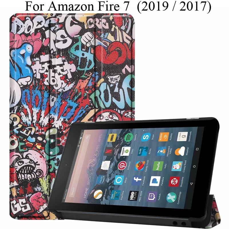 "Funda delgada bonita para Amazon Fire 7 2019, funda, Fundas Kindle Fire7 2017 7 "", funda para tableta E-Book, funda protectora"