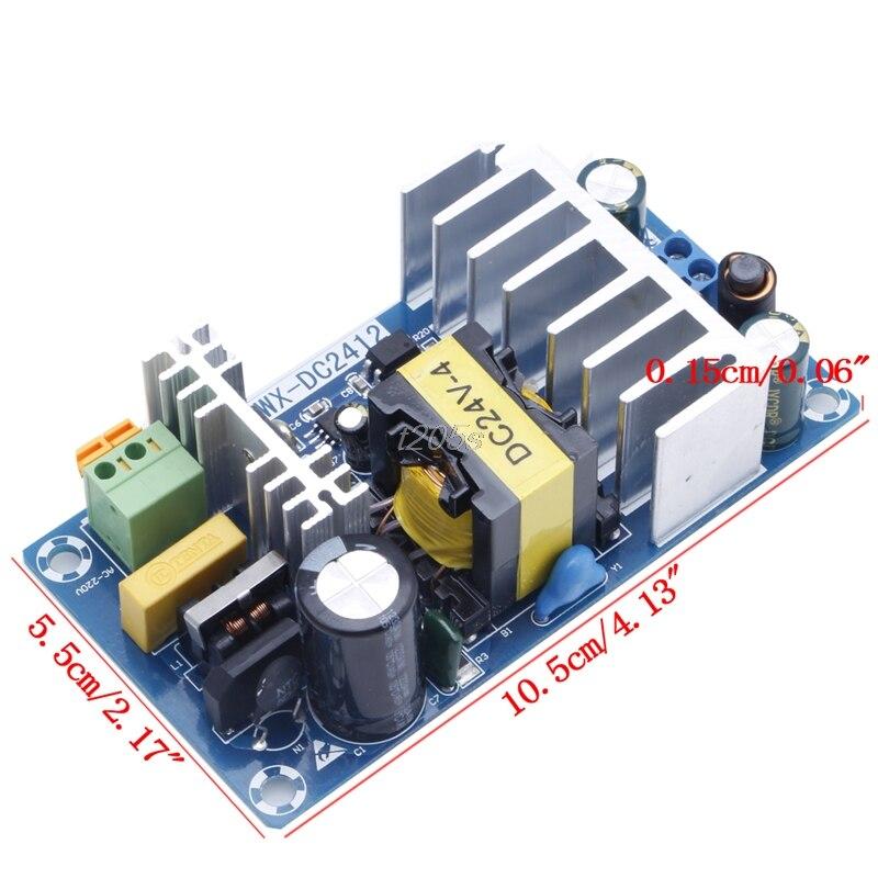 Módulo de fuente de alimentación AC 110v 220v a DC 24V 6A AC-DC Placa de alimentación conmutada T25 Envío Directo