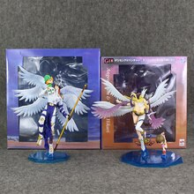 Digimon Angemon Angewomon Figure Takaishi Takeru Yagami Hikari PVC modèle jouet 22-24 cm Anime poupées