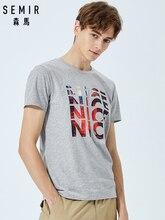SEMIR Summer short sleeve T-shirt men 2019 new Korean version round neck t shirt tide brand personality printing tops students