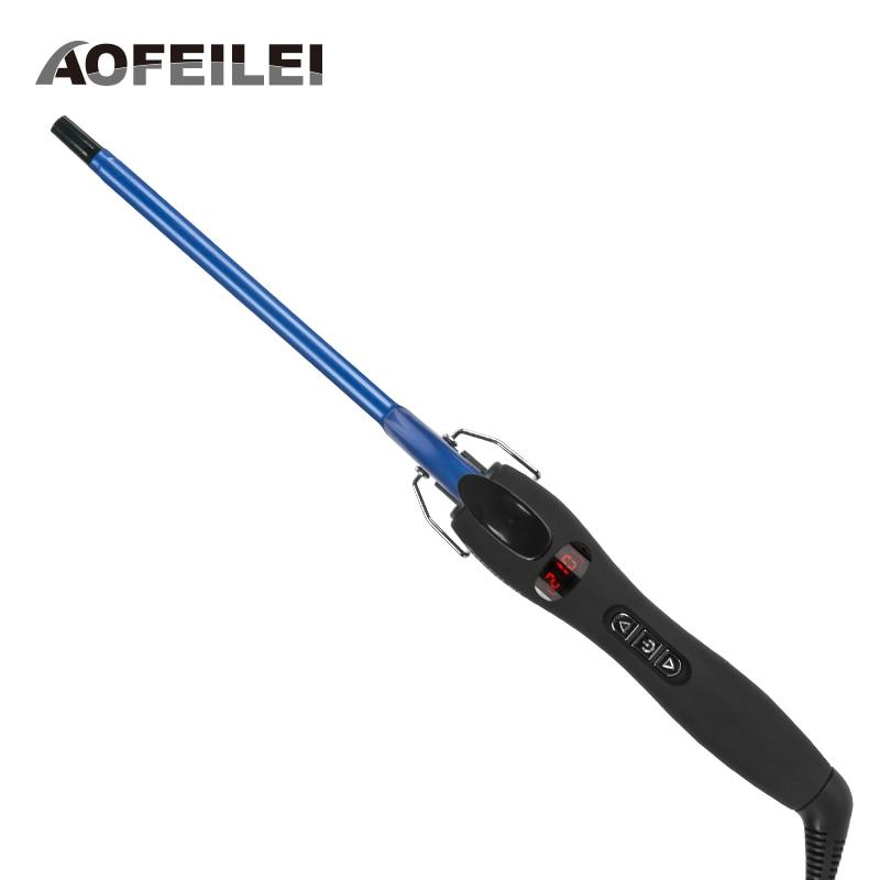 Aofeilei nuovo arrivo professionale 9mm ferro arricciacapelli capelli waver pera fiore cono elettrico curling bacchetta strumenti per lo styling del rullo
