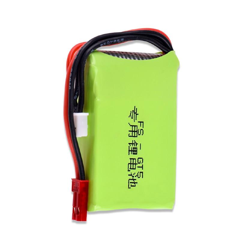 Batería Lipo de 7,4 v, 1500mah, 2S RC compatible con Flysky FS-GT5, transmisor de 2,4G y 6 canales para Control remoto de coches y barcos de Control remoto 2 uds.