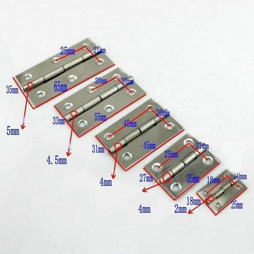 AISI304 дверные петли из нержавеющей стали Размер 24 мм длинные складные дверные петли Бесплатная доставка 10 пар
