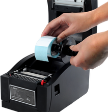 Impresora térmica de etiquetas de código de barras de alta calidad con interfaz USB + Serial + Lan