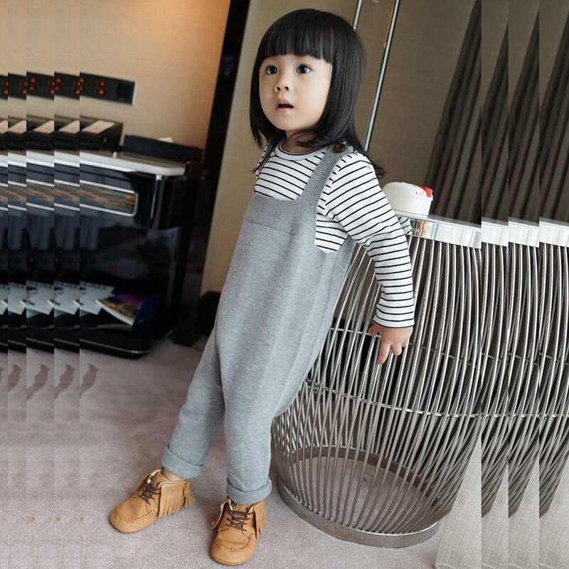 ¡Primavera 2019! monos para bebés de 0 a 5 años, pantalones de algodón para niños y niñas, pantalones de punto de Harem para bebés y niños pequeños, pantalones de Harem para bebés